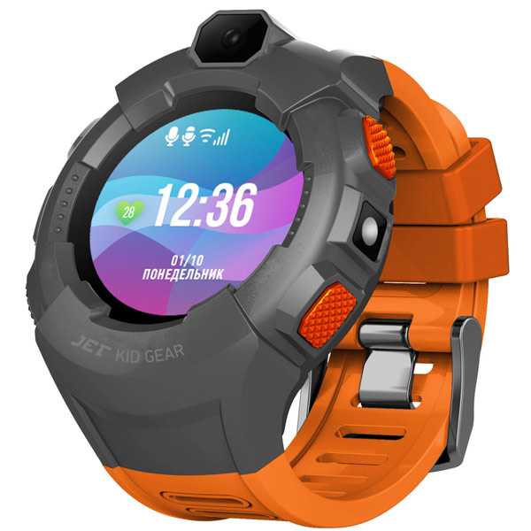 Часы с GPS трекером Jet Kid Gear Orange/Grey
