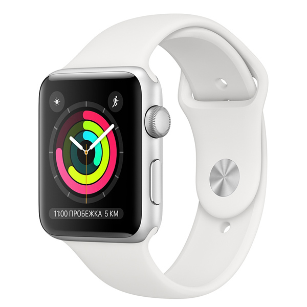 Смарт-часы Apple Watch S3 38mm Silver Al/White Sport Band