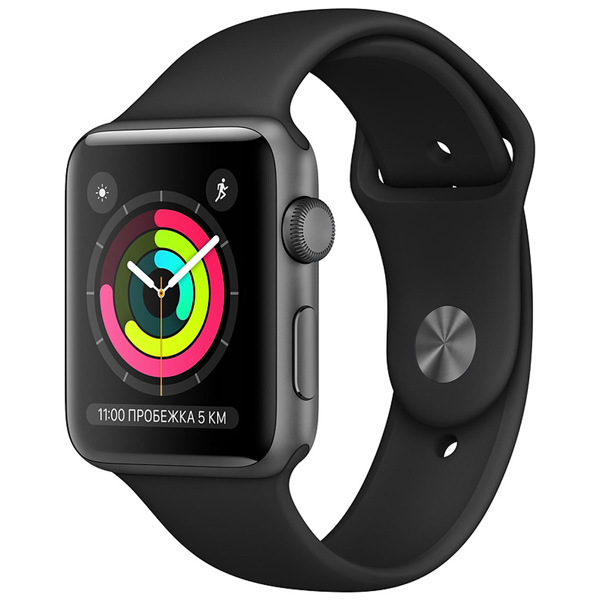 060fd0317df9 Купить Смарт-часы Apple Watch S3 38mm Space Grey Al Black Sport Band ...