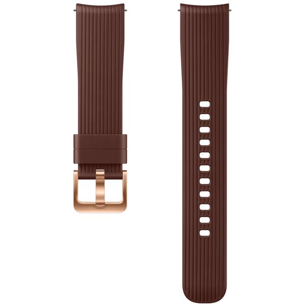 Сменный ремешок для носимого устройства Samsung силиконовый ремешок для Galaxy Watch 42mm, Brown