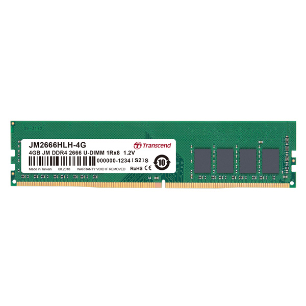 Оперативная память Transcend 4GB Jetram 2666MHz DIMM (JM2666HLH-4G)
