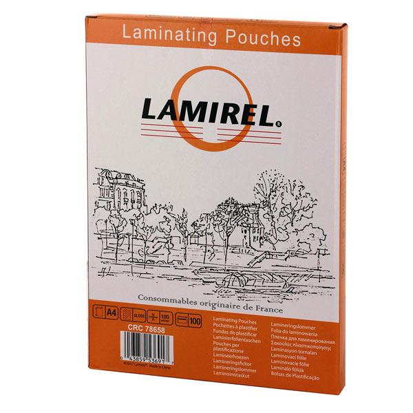 Плёнка для ламинирования Lamirel А4 100мкм (CRC78658)