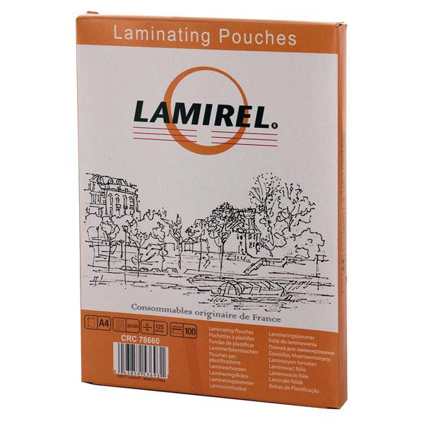 Плёнка для ламинирования Lamirel А4 125мкм (CRC78660)