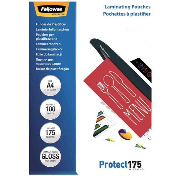 Плёнка для ламинирования Fellowes А4 175 мкм, 100 шт.