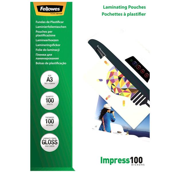 Плёнка для ламинирования Fellowes A3 100 мкм, 100 шт.