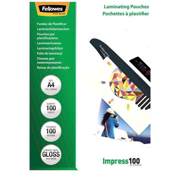 Плёнка для ламинирования Fellowes A4 100 мкм, 100 шт.