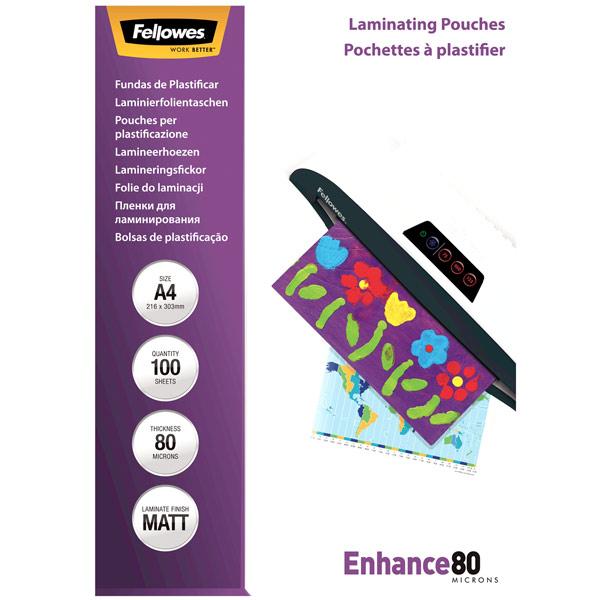 Плёнка для ламинирования Fellowes матовая А4 80 мкм, 100 шт.