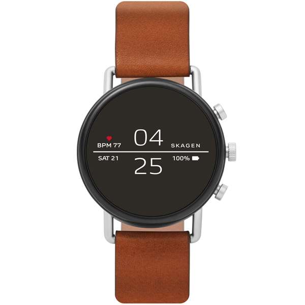 Смарт-часы Skagen Falster 2 Silver / Brown Leather