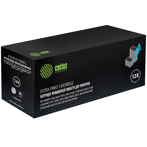 Картридж для лазерного принтера Cactus Black 12X для HP (CS-Q2612X-MPS)