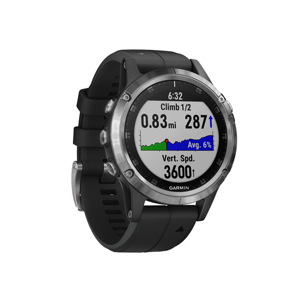 Спортивные часы Garmin Fenix 5 Plus Glass Silver GPS