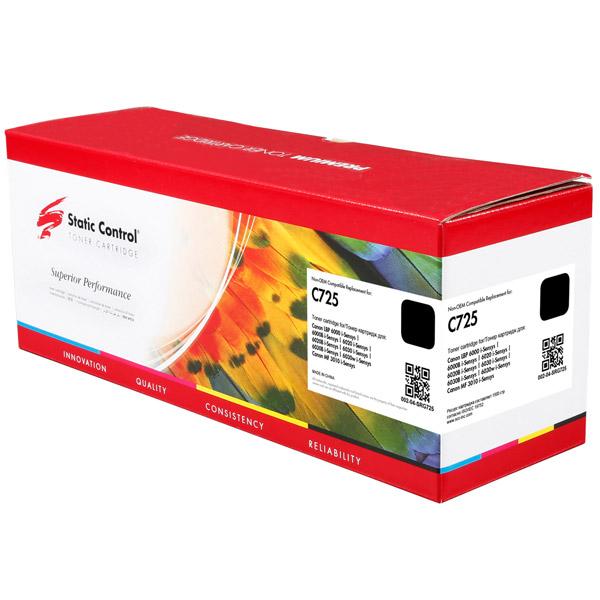 Картридж для лазерного принтера Static Control C725 Black (002-04-SRG725)