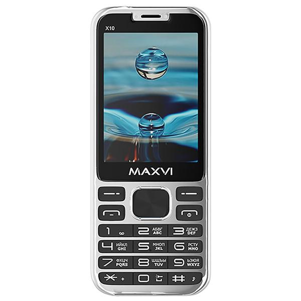 Мобильный телефон Maxvi — X10 Metallic Silver