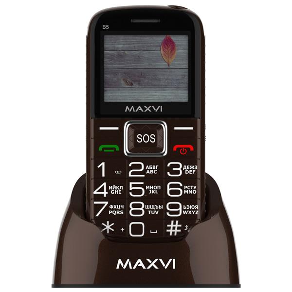 Мобильный телефон Maxvi — B5 Brown