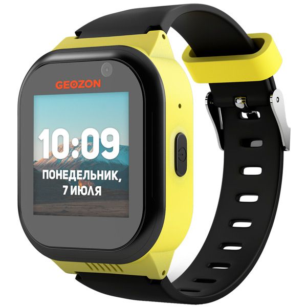 Часы с GPS трекером Geozon LTE Black Yellow (G-W01YBLK)
