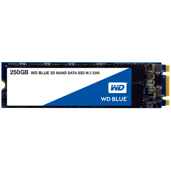 Внутренний SSD накопитель WD 250GB Blue 3D NAND (WDS250G2B0B)