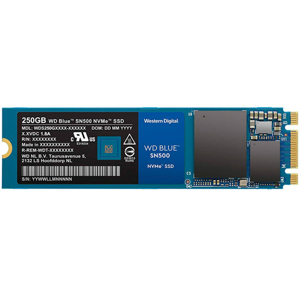 Внутренний SSD накопитель WD 250GB Blue SN500 NVMe (WDS250G1B0C)