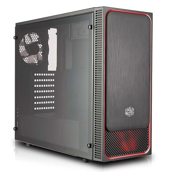 Корпус для компьютера Cooler Master MasterBox E500L Red w/ Acrylic Side panel