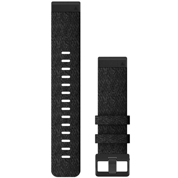 Сменный ремешок для носимого устройства Garmin QuickFit 20 Heathered Black/Black (010-12875-00)