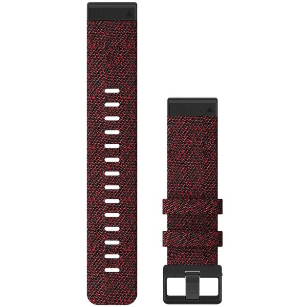 Сменный ремешок для носимого устройства Garmin QuickFit 22 Heathered Red (010-12863-06)