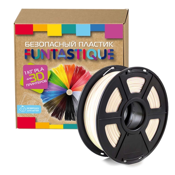 Картридж для 3D-принтера Funtastique — PLA-1KG-NC Натуральный