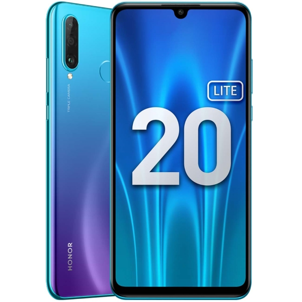 Смартфон Honor 20 Lite 4+128GB Peacock Blue (MAR-LX1H) фото