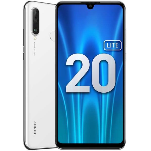 Смартфон Honor, 20 Lite 4+128GB Pearl White (MAR-LX1H), белый  - купить со скидкой