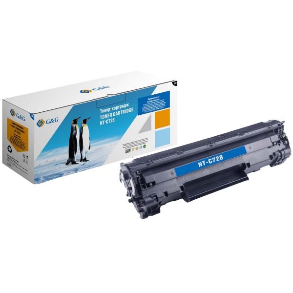 Картридж для лазерного принтера G&G NT-C728 Black для Canon MF-4410/4420/4430/4450