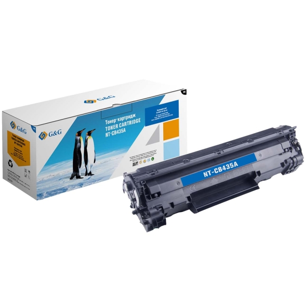 Картридж для лазерного принтера G&G NT-CB435A Black для HP P1005/1006 Canon LBP-3010