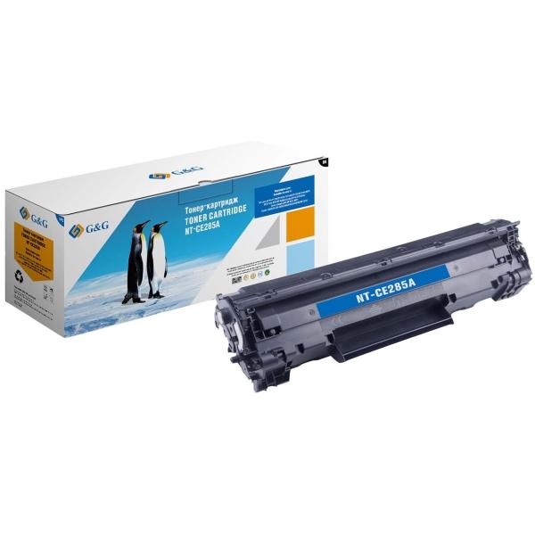 Картридж для лазерного принтера G&G NT-CE285A Black для HP P1102/1102w M1130/1212nf черный