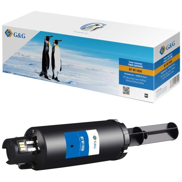 Картридж для лазерного принтера G&G NT-W1103A Black для HP 1000a/1000w/1200a/1200w