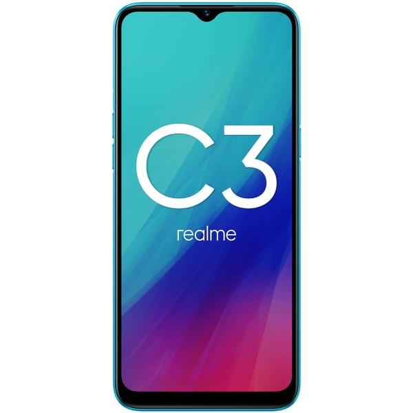 Купить Смартфон Realme C3 3+64GB NFC Frozen Blue (RMX2020) в каталоге интернет магазина М.Видео по выгодной цене с доставкой, отзывы, фотографии - Красноярск