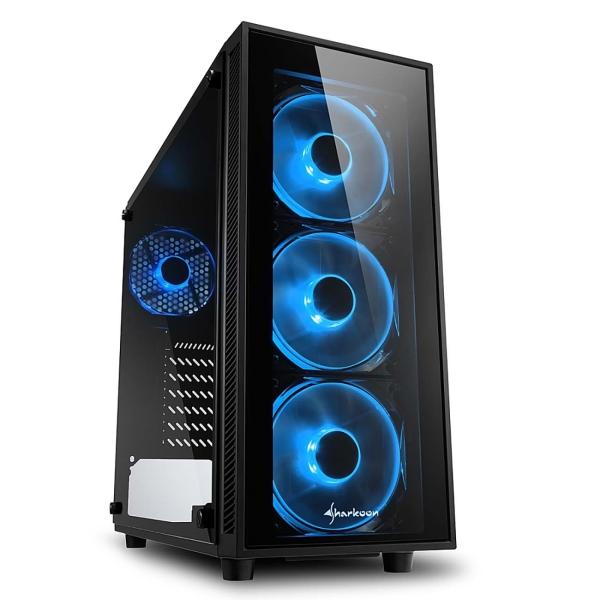 Корпус для компьютера Sharkoon TG4 blue led