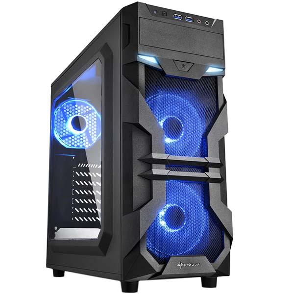 Корпус для компьютера Sharkoon VG7-W blue led SHARKOON
