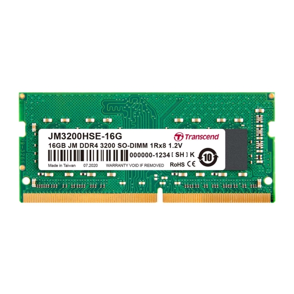 Оперативная память Transcend 16GB DDR4 SO-DIMM (JM3200HSE-16G) - характеристики, техническое описание в интернет-магазине М.Видео - Нижний Новгород