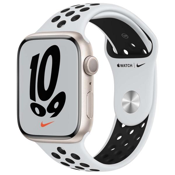 Apple Watch Nike S7 GPS 45mm StarAl/PurePlat/BlackSport