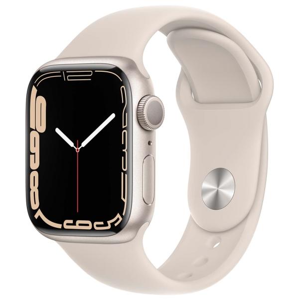 Apple Watch Series 7 GPS 41mm Starlight Alum. Sport