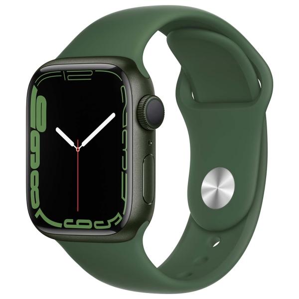 Apple Watch Series 7 GPS 41mm Green Alum./Clover Sport