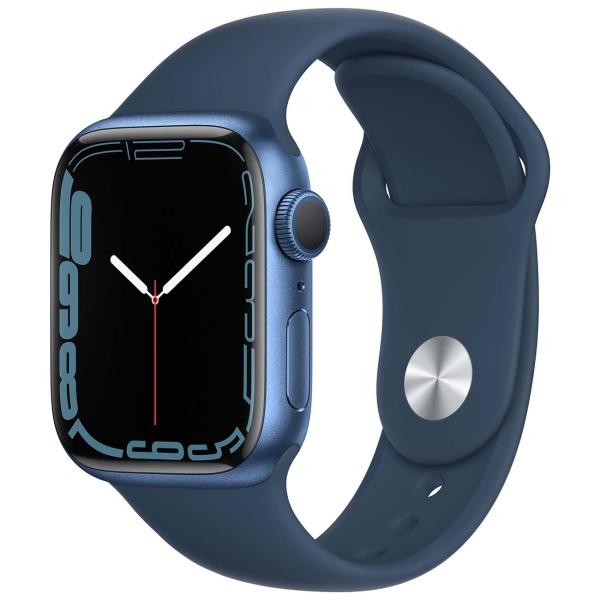 Apple Watch Series 7 GPS 41mm Blue Al/Abyss Blue Sport