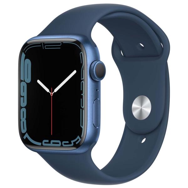 Apple Watch Series 7 GPS 45mm Blue Al/Abyss Blue Sport
