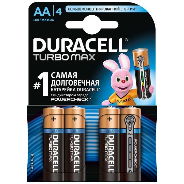Батарея Duracell Turbo Max AA 4шт.