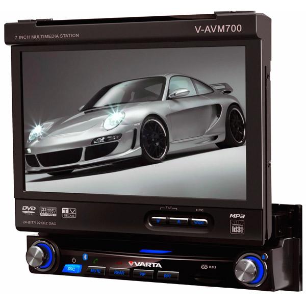 Автомобильная магнитола с DVD + монитор Varta V-AVM700 монитор в авто acv avm 1716 grey