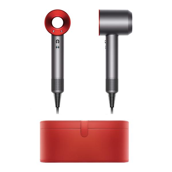 Фен Dyson Supersonic красный в красном чехле ручной пылесос handstick dyson v6 cord free extra sv03 350вт желтый