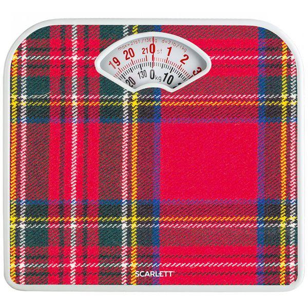 Весы напольные Scarlett SC-BS33M042 шотландская клетка