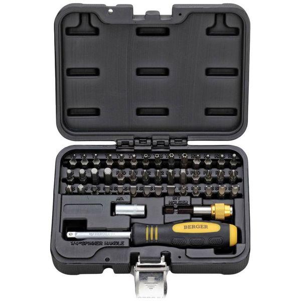 Набор ручного инструмента Berger BG45SB биты 45 предметов