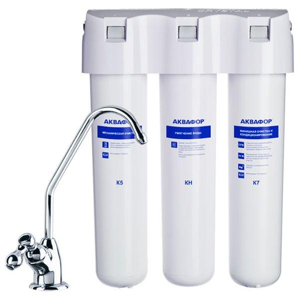 Фильтр для очистки воды Аквафор Кристалл А для жёсткой воды (И11515)