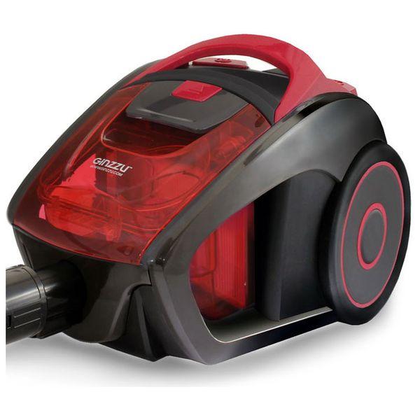 Пылесос с контейнером для пыли Ginzzu VS429 Grey Red