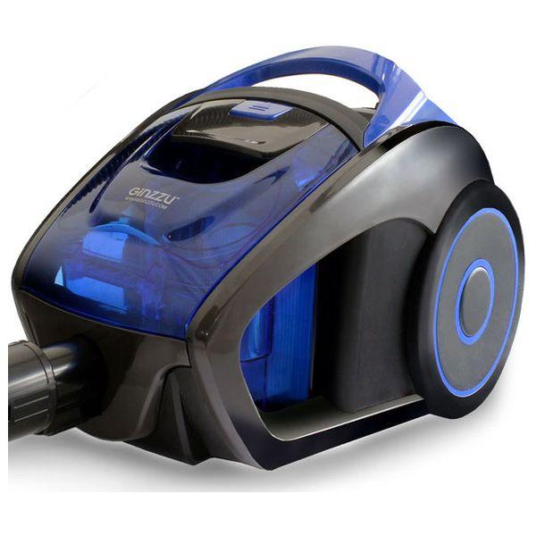 Пылесос с контейнером для пыли Ginzzu VS429 Grey Blue