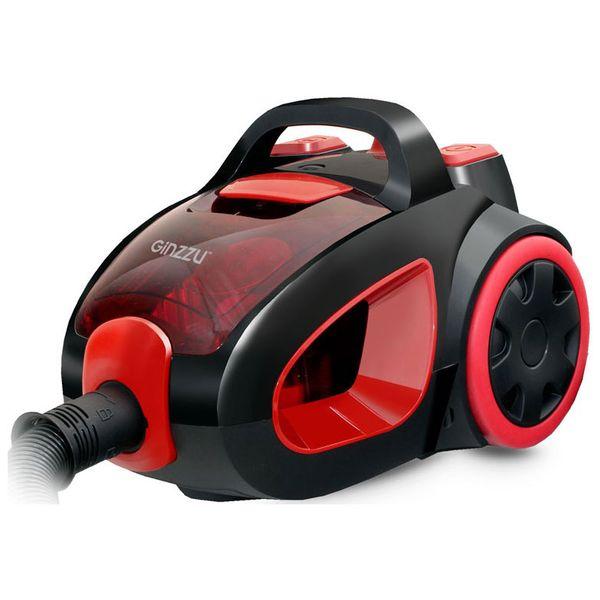 Пылесос с контейнером для пыли Ginzzu VS437 Black Red