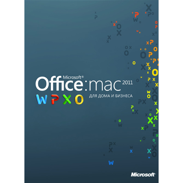 ПО Microsoft Office:Mac 2011 для дома и бизнеса 2уст/пол+книга