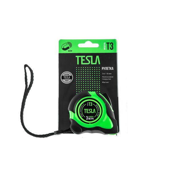 Рулетка Tesla T-3 (3м/16мм, магнит)